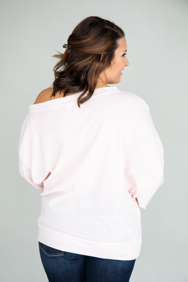 Keep Your Promise Blush Blouse