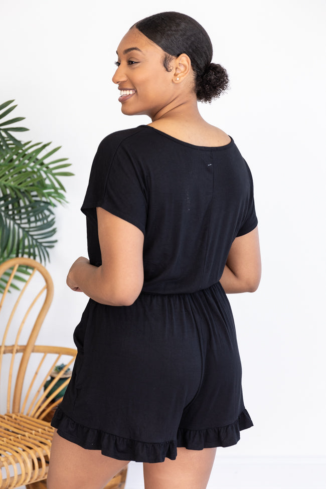 Anything You Need Black Romper