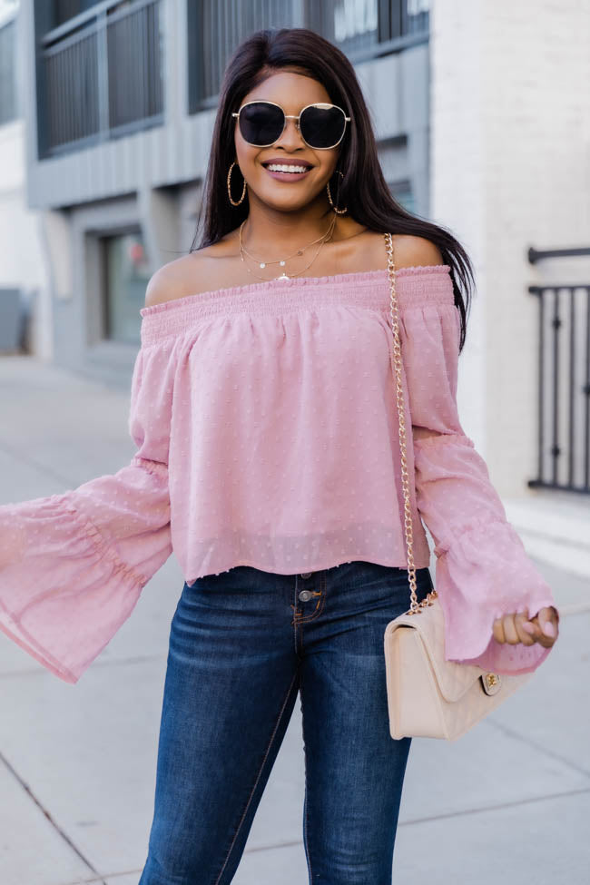 Meet Me For Brunch Mauve Blouse