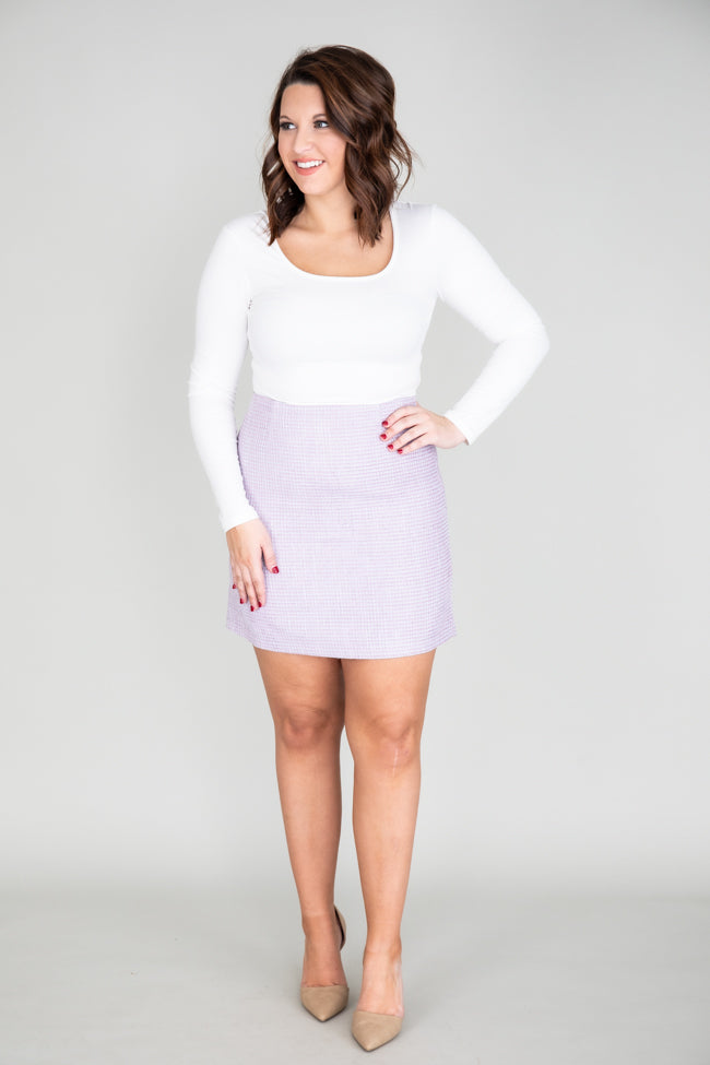 Lonely Heart Tweed Purple Skirt
