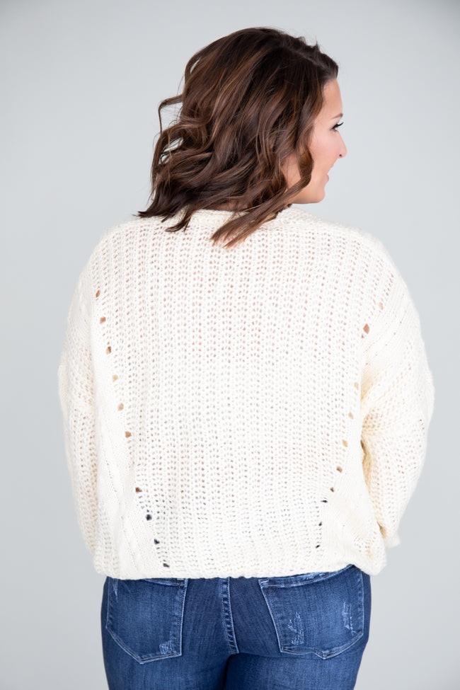 Clever Connection Cream Sweater