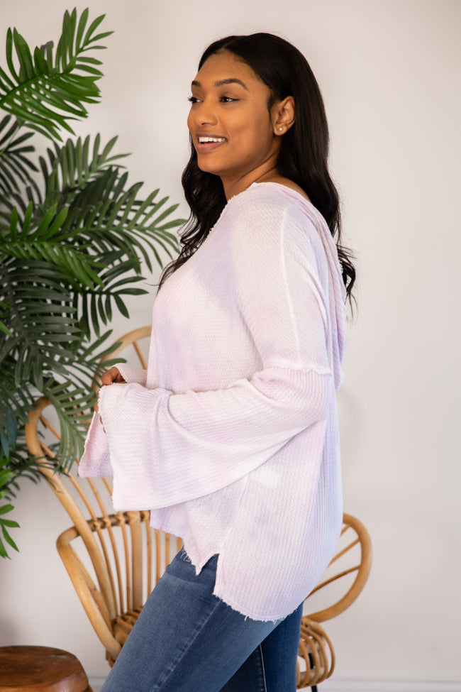 Live Out A Dream Tie Dye Pullover Lavender/Pink FINAL SALE