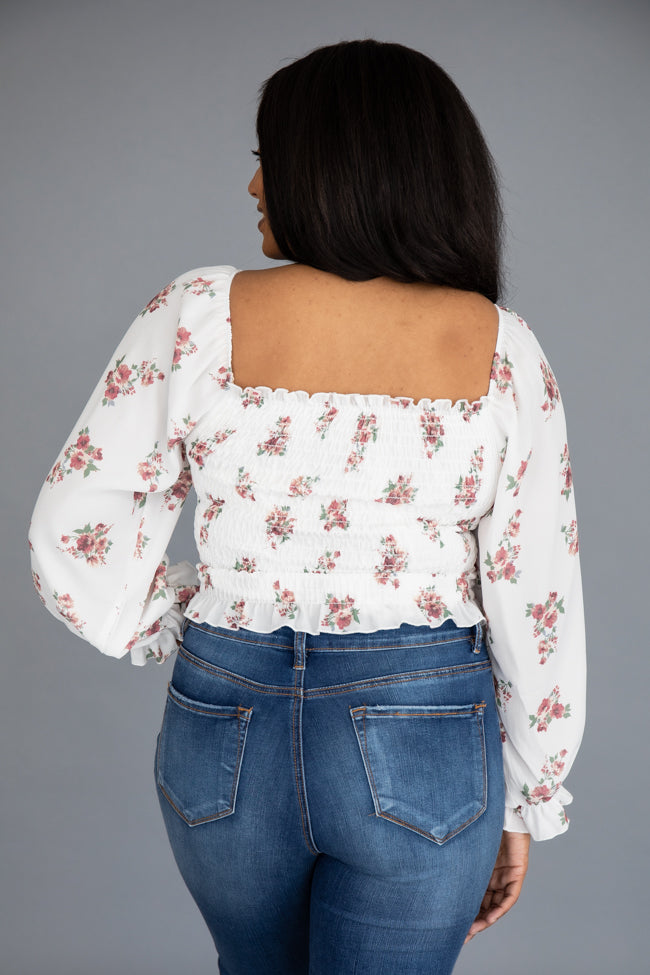 Catch You Again Floral Cream/Red Blouse