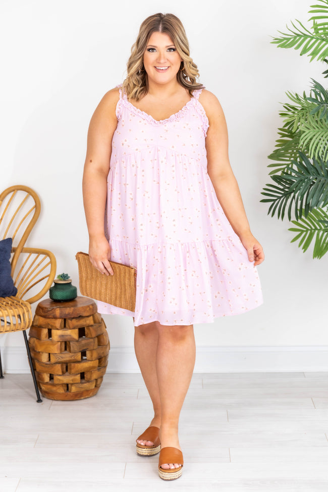A Ray Of Sunshine Cami Floral Pink Dress