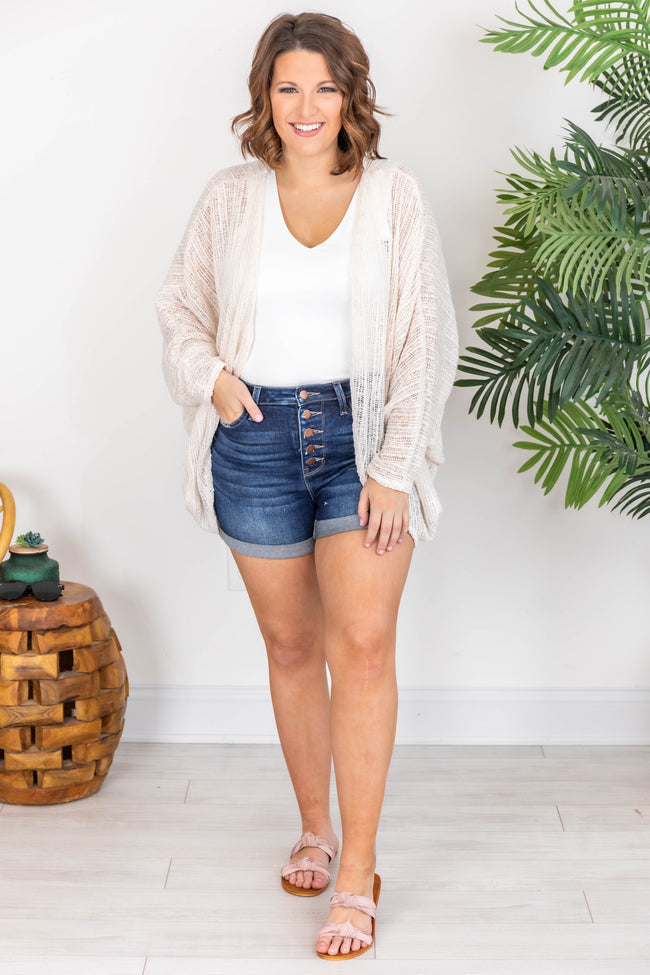 Someone Like You Open Knit Cream Cardigan