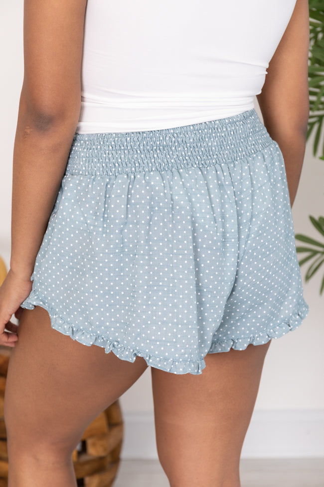 Yesterday's Promise Polka Dot Blue Shorts