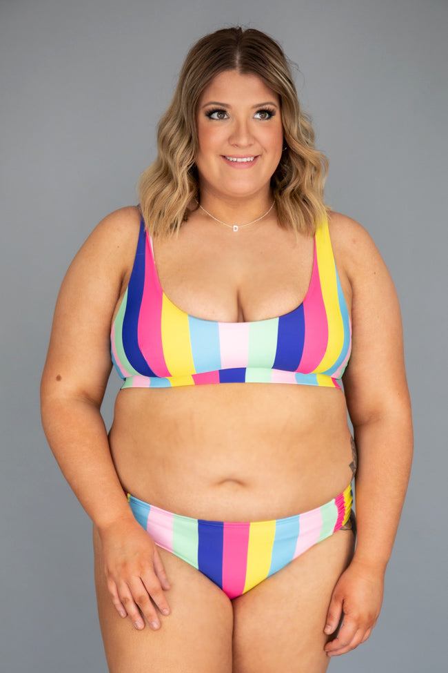 Rainbow Dreams Stripe Low Rise Bikini Bottoms