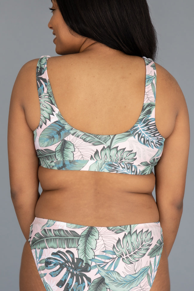 Sea Of Love Palms Tropical Bikini Top