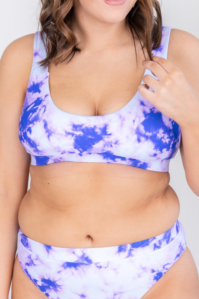 Beachside Escape Tie Dye Purple Bikini Top