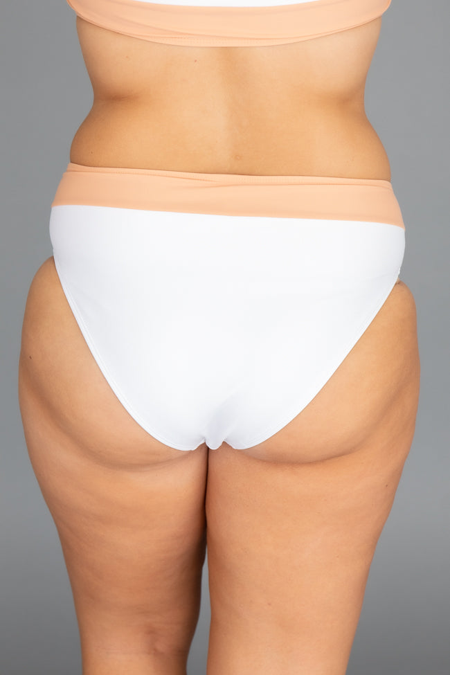 Chasing The Sun Swimsuit White Bottoms