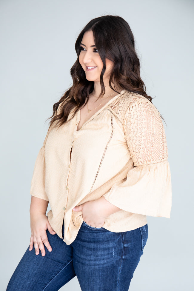 Believing In Magic Beige Blouse