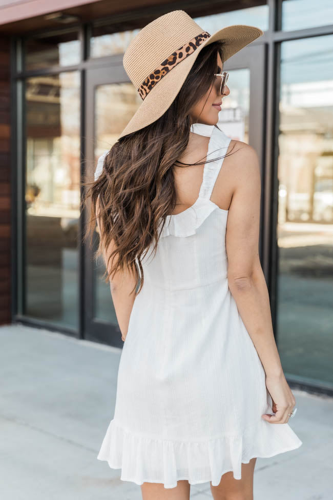 French Countryside Button Down White Dress