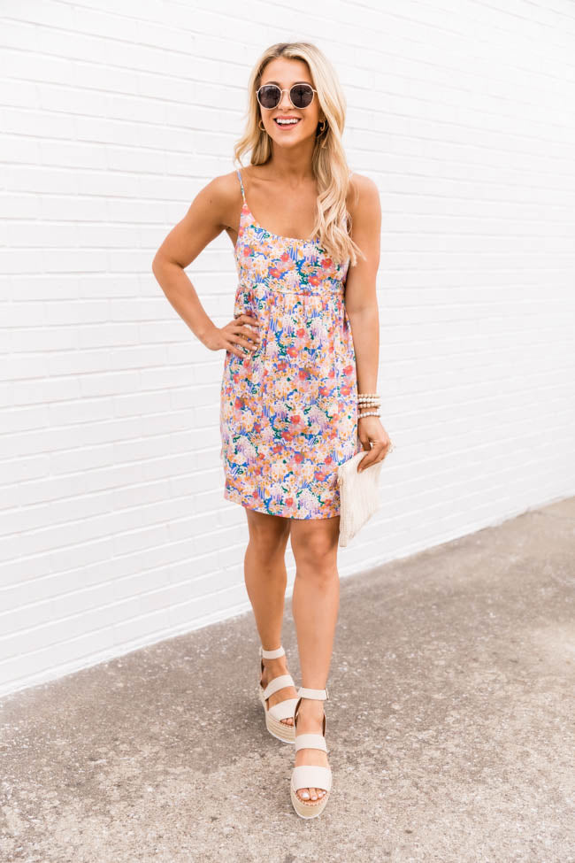 Seaside Charm Floral Multi Dress