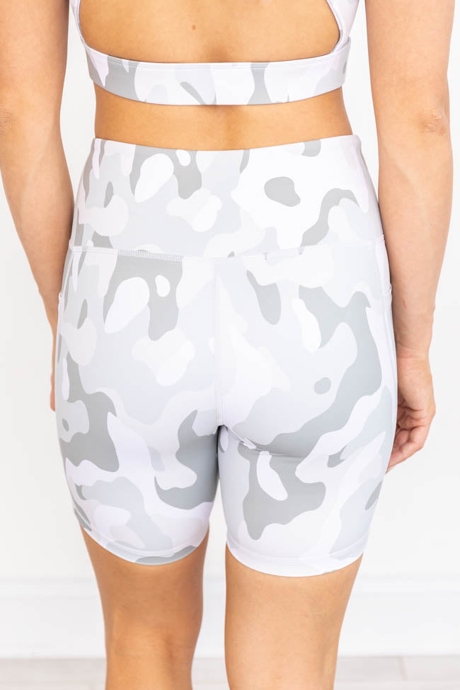 Running After You Camo Grey Biker shorts