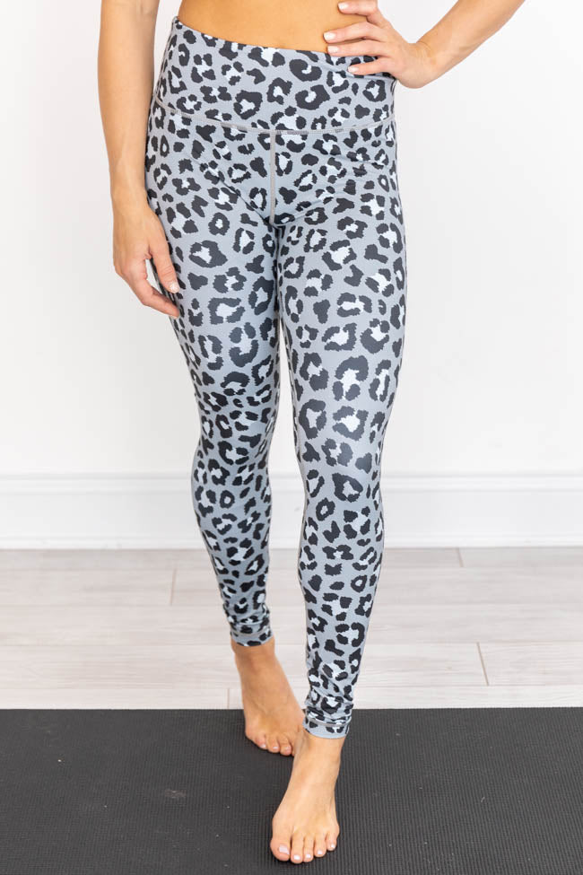 Running After You Animal Print Grey Leggings