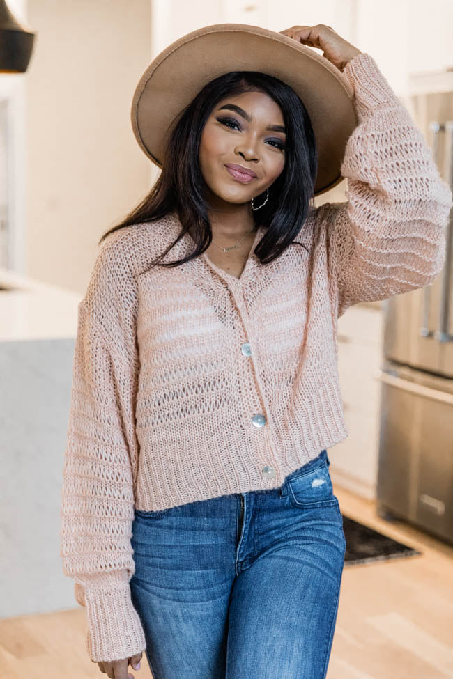 Stories Of Us Peach Cardigan FINAL SALE