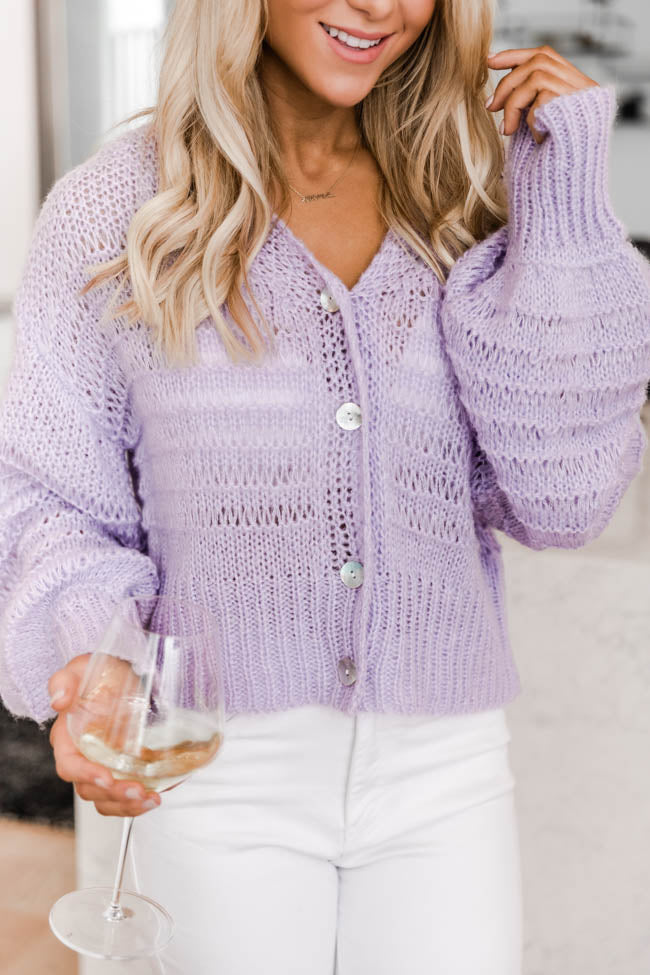 Stories Of Us Lilac Cardigan
