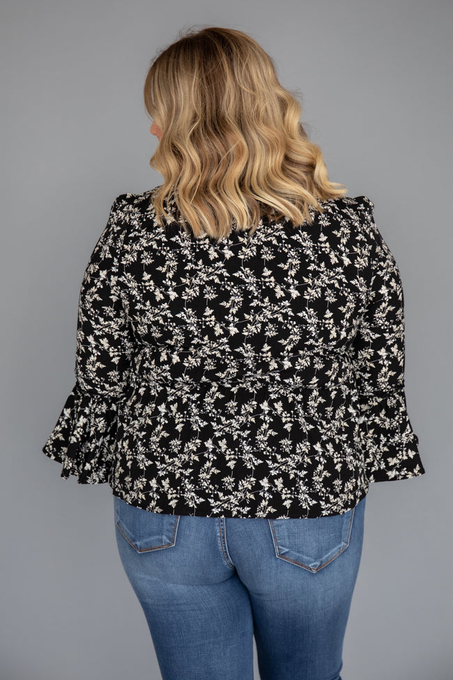 Unpredictable Heart Black Floral Blouse
