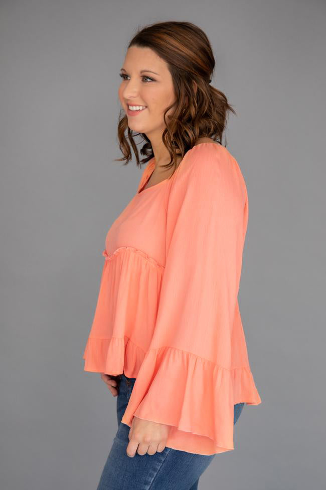 Forever Missing You Peach Blouse