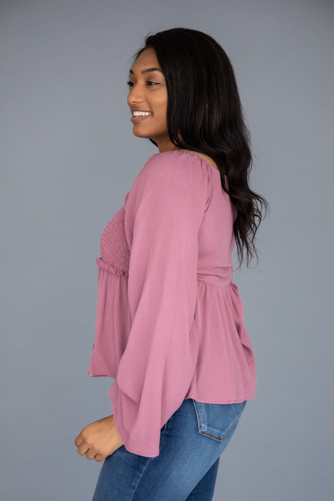 Leave You Waiting Babydoll Berry Blouse