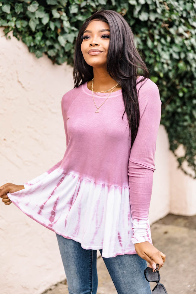 Reasons To Shine Tie Dye Mauve Blouse