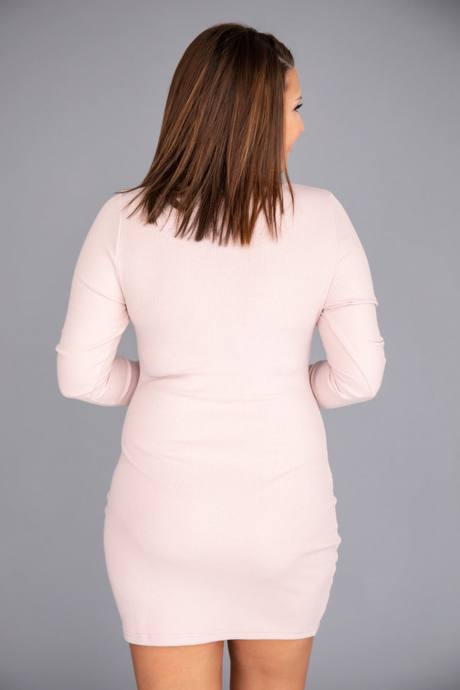 Committed To You Bodycon Blush Dress
