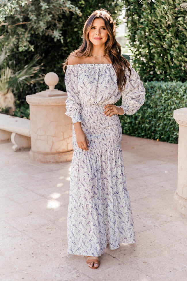A Forever Vacation Purple Floral Maxi Dress