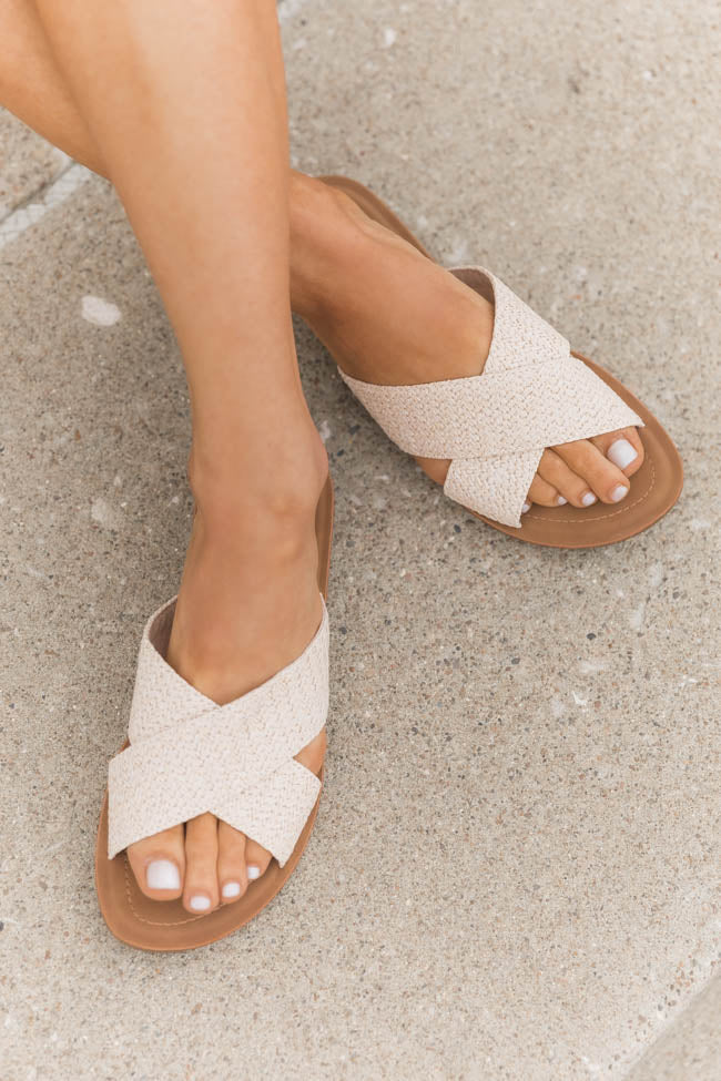 Joelle Raffia Criss Cross Sandals