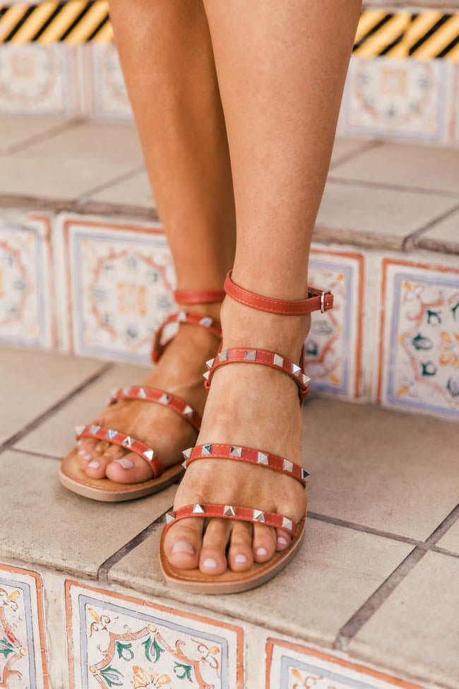 Macy Strappy Burnt Orange Sandals