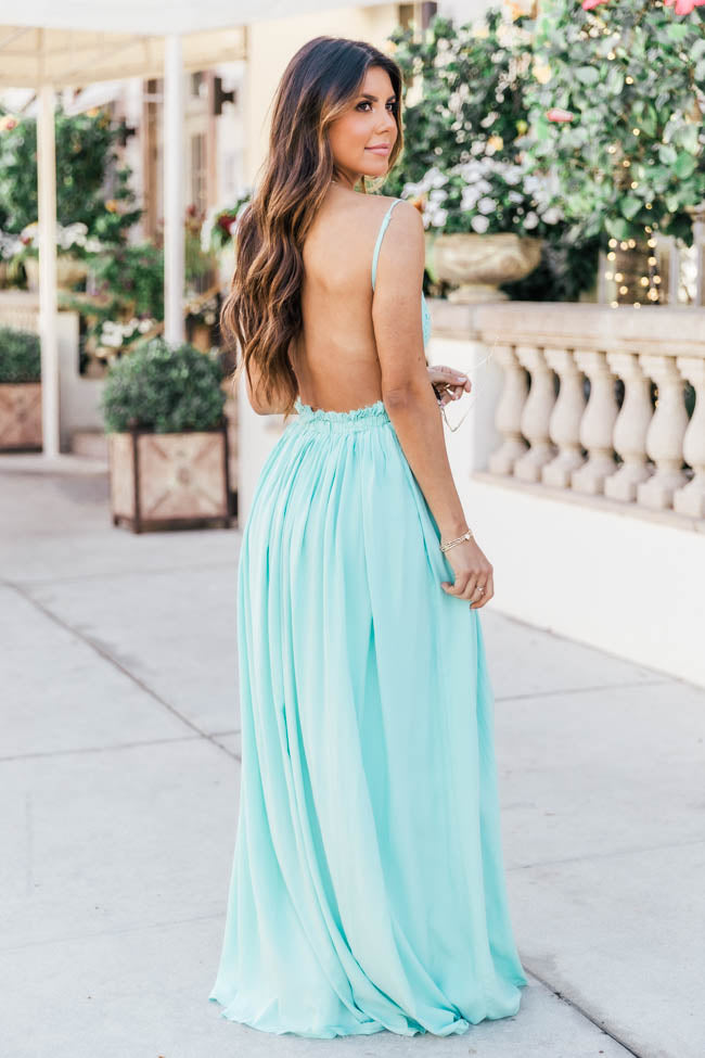 Once In A Lifetime Blue Maxi Dress