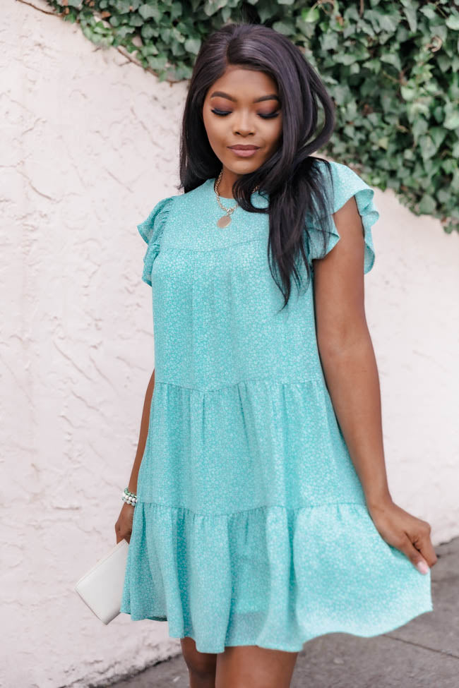 Complete My Heart Floral Mint Dress