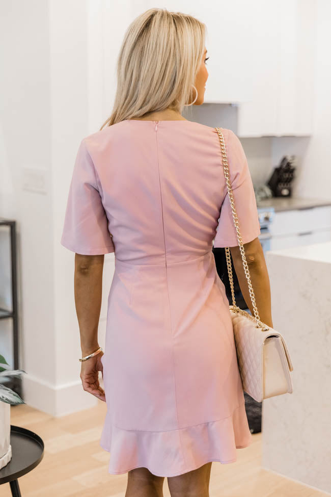 Can't Help Falling In Love Mauve Dress