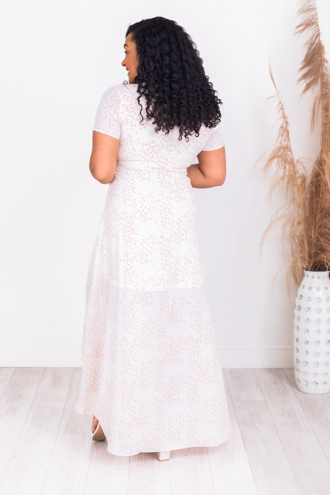 Wrapped Up In Time Floral Ivory Dress