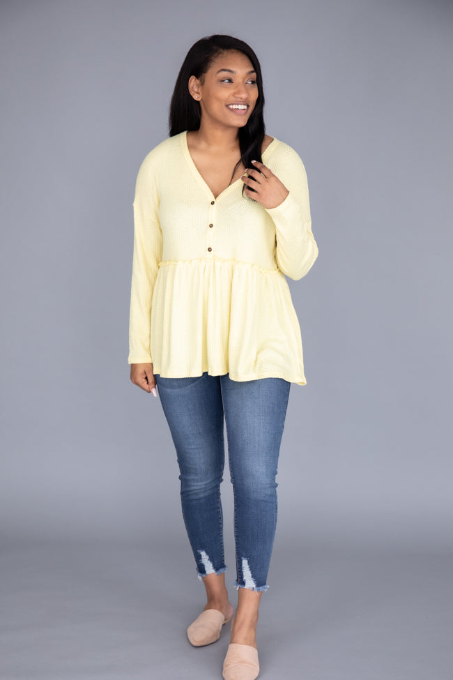 So Perfectly Yours Yellow Blouse