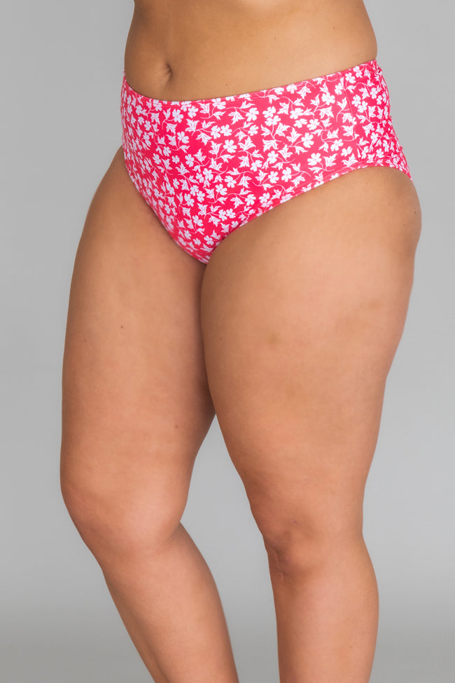 Tropical Bliss Floral Pink Swimsuit Bottom