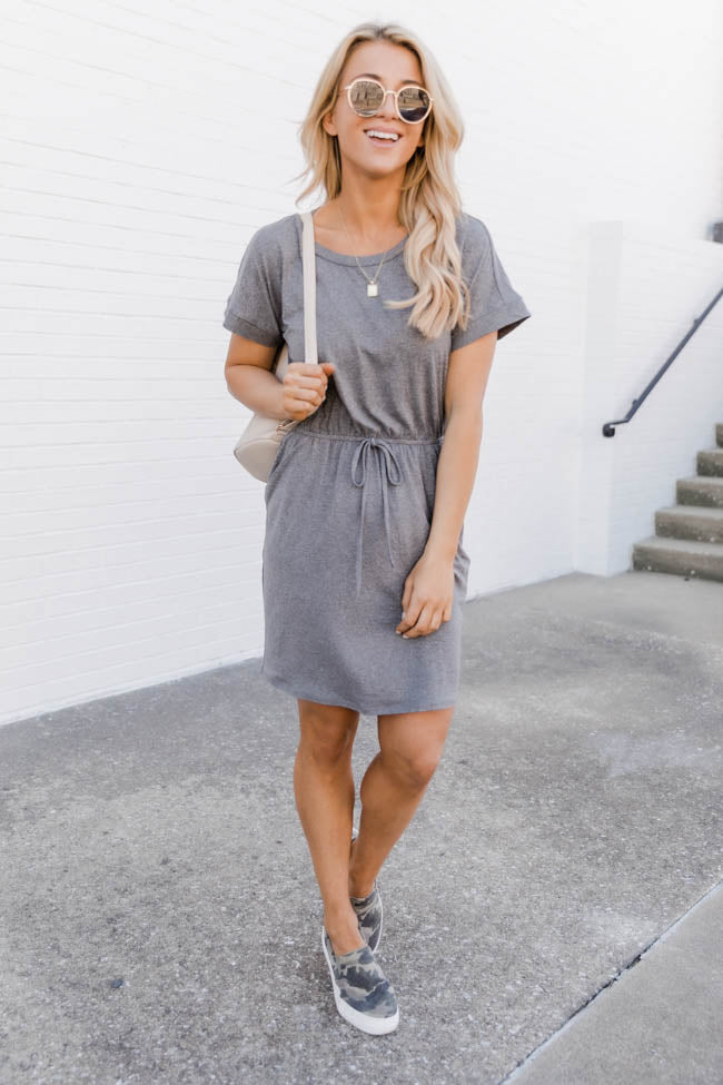 Our Typical Love Grey T-Shirt Dress