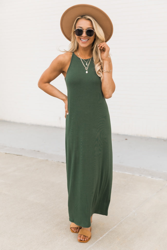 Longing For You Green Midi Tank Dress