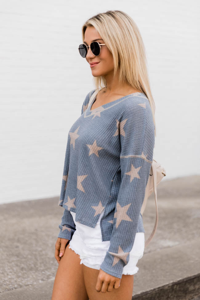 The Stars Above Blue Blouse