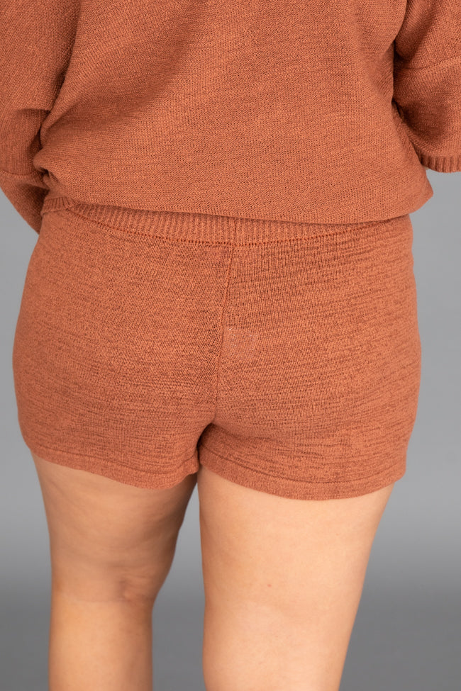 Lost In Direction Terracotta Sweater Shorts