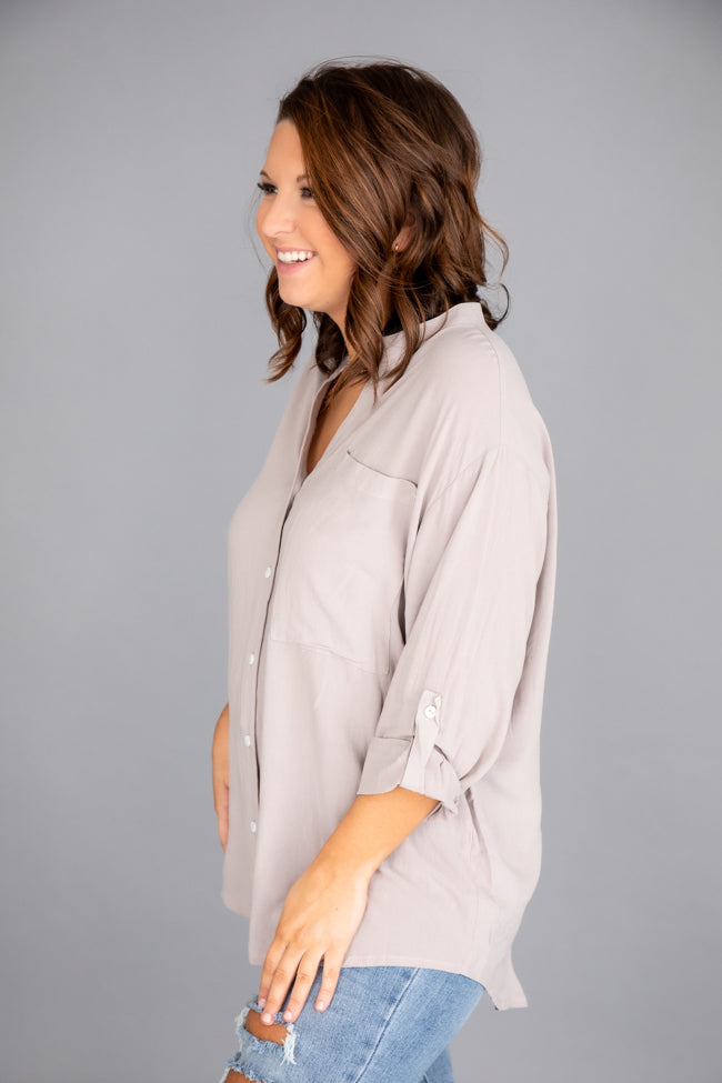 Lifetime Of Style Taupe Blouse