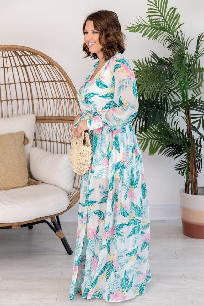 My Dearest Darling Ivory Floral Maxi Dress