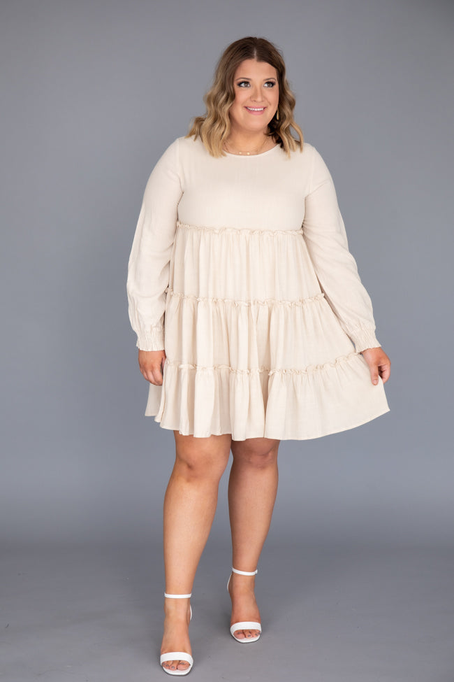 Timeless Trend Babydoll Beige Dress