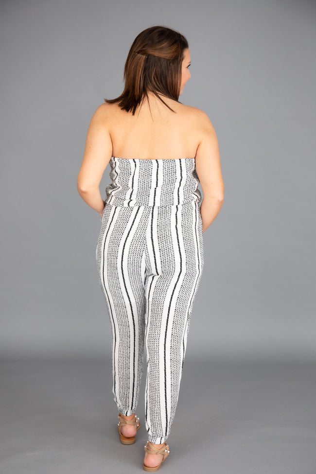 Statement Style Stripe Ivory Jumpsuit