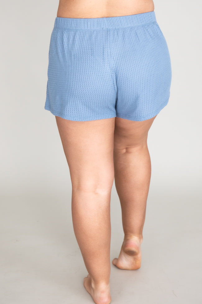 Bubbly Personality Blue Shorts