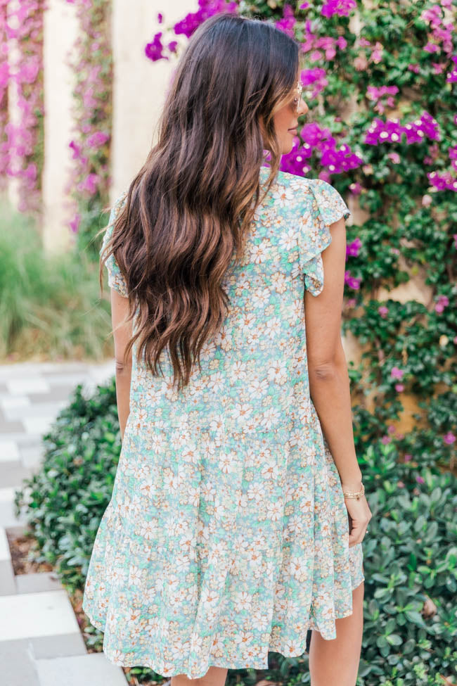 Complete My Heart Green Floral Dress