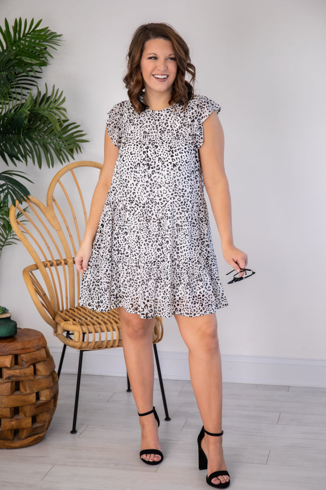 Complete My Heart Ivory Animal Print Dress