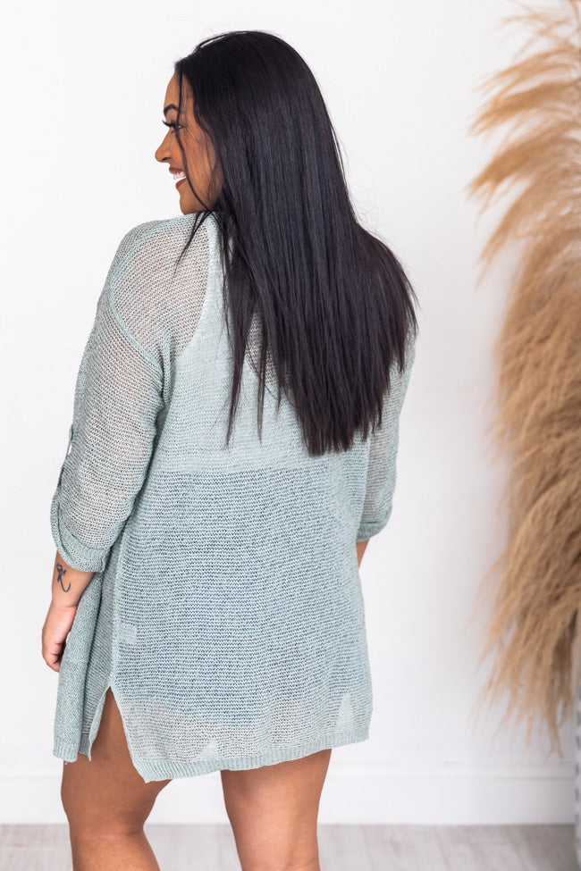 Here Without You Sage Cardigan
