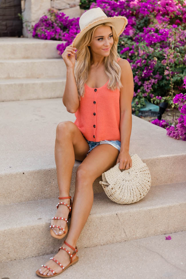 Imagine This Sweater Coral Tank