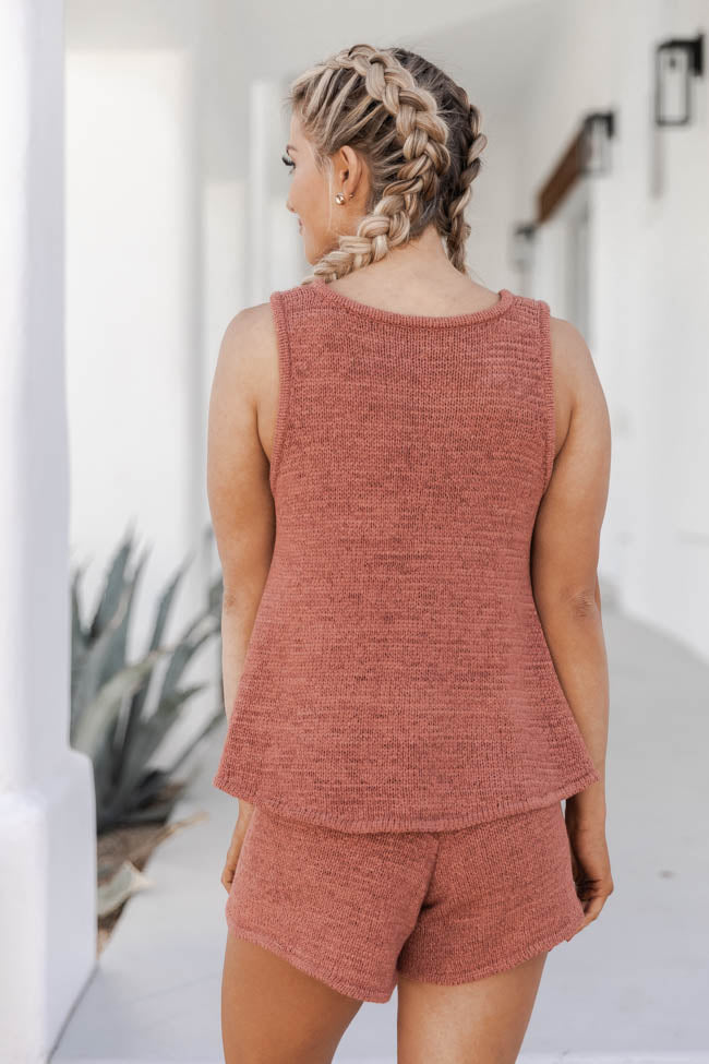 Wonder Often Terracotta Sweater Tank