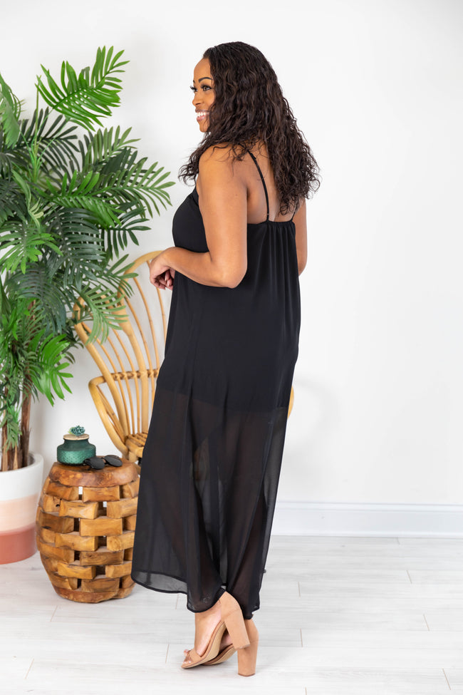 An Exotic Escape Black Maxi Dress